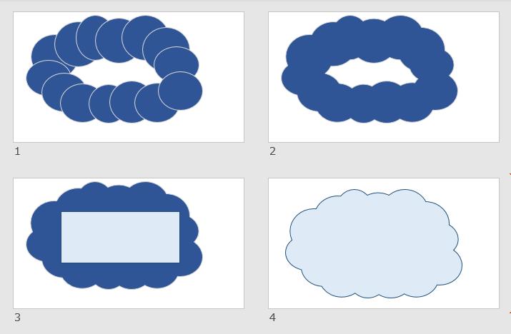 もくもく雲をセンスよく